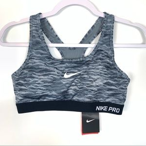 Nike Pro | NEW Gray Swirl Padded Sports Bra Medium